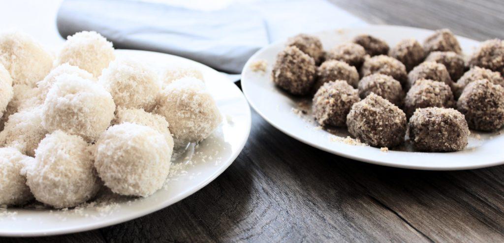 gesunde Kokos- und Nussbällchen