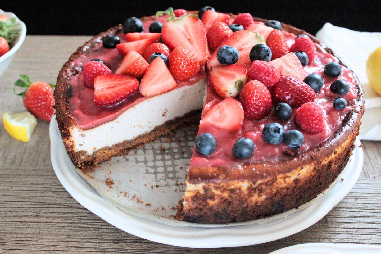 fruchtige Erdbeercheesecake