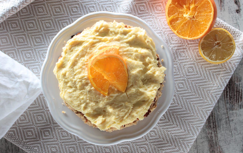 Honigkuchen mit Orangencreme