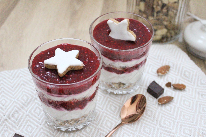 Himbeer-Champagner Schicht-Dessert